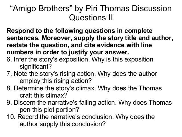 Reading Quiz - Amigo Brothers - ProProfs Quiz