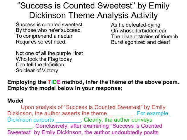 the amigo brothers 18 ldquosuccess is counted sweetestrdquo by emily dickinson theme analysis