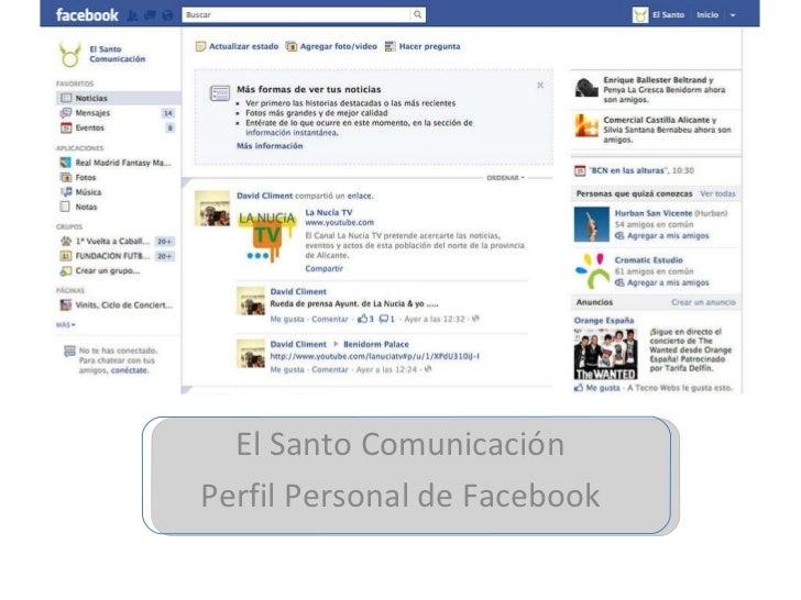 El Santo Comunicación Perfil Personal de Facebook