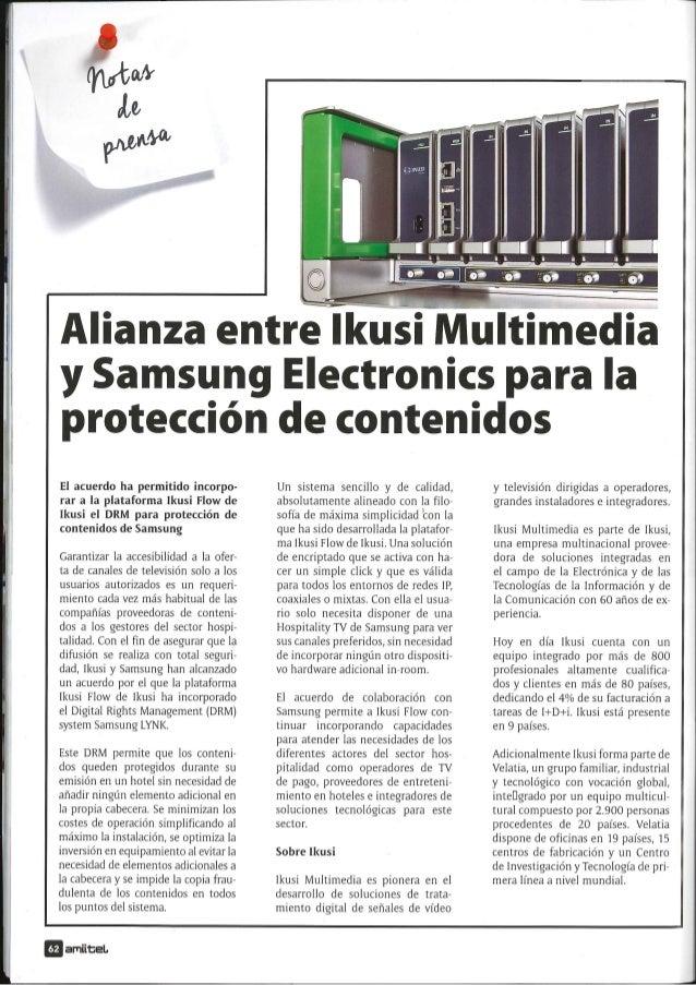 Alianza entre Ikusi Multimedia y Samsung Electronics para la protección de contenidos Slide 3