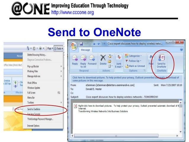 Word, Excel, OneNote, 2007