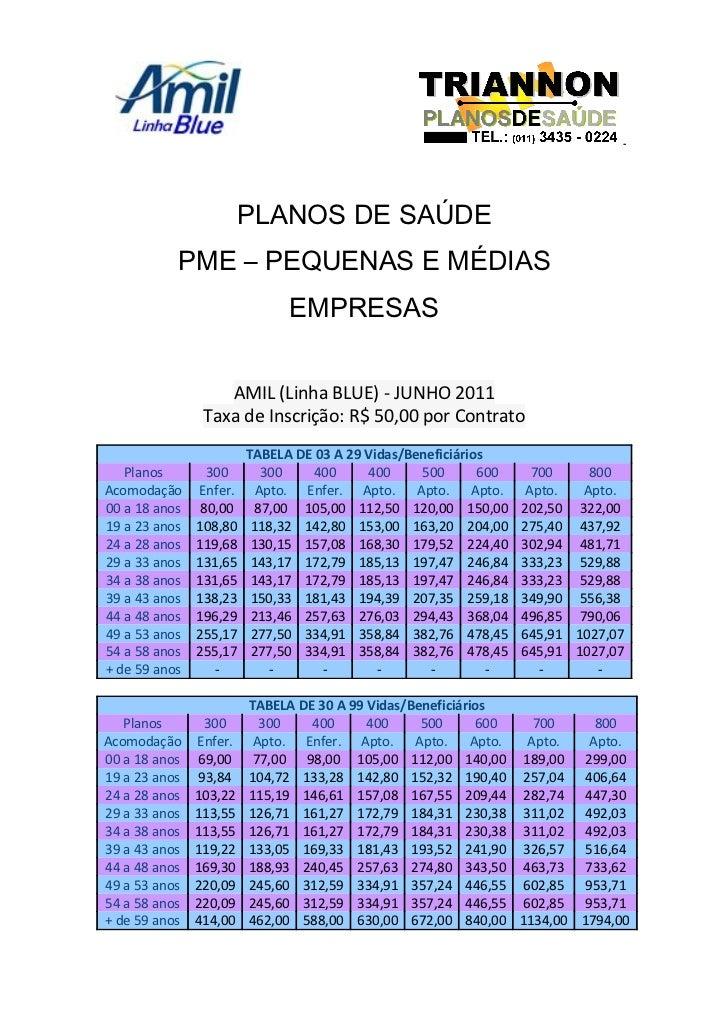 Amil blue pme   novembro11
