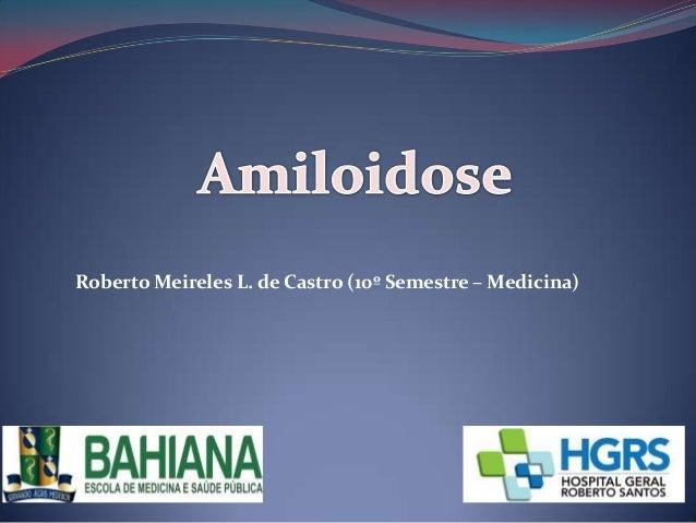 Roberto Meireles L. de Castro (10º Semestre – Medicina)