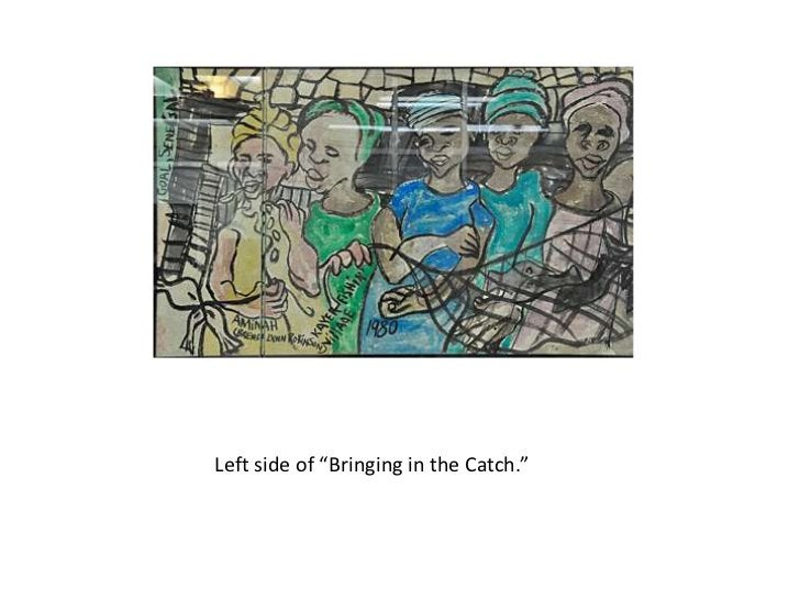 """Left side of """"Bringing in the Catch."""""""