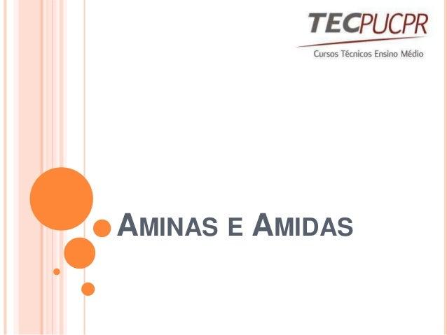 AMINAS E AMIDAS