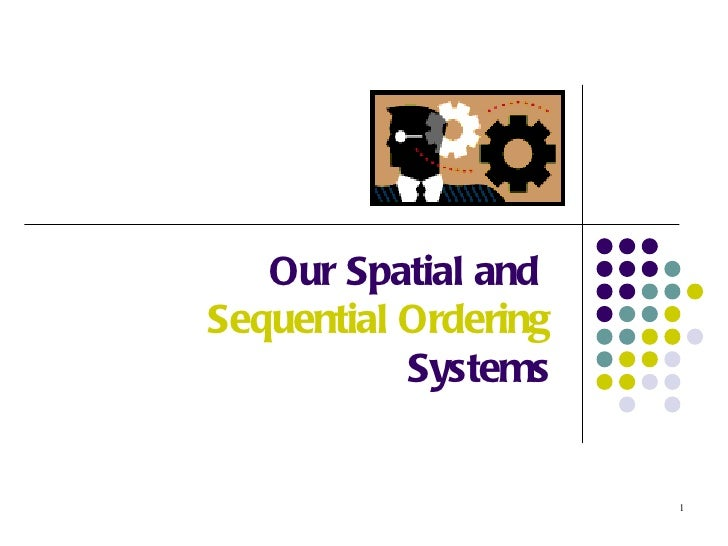 Our Spatial andSequential Ordering           Systems                      1