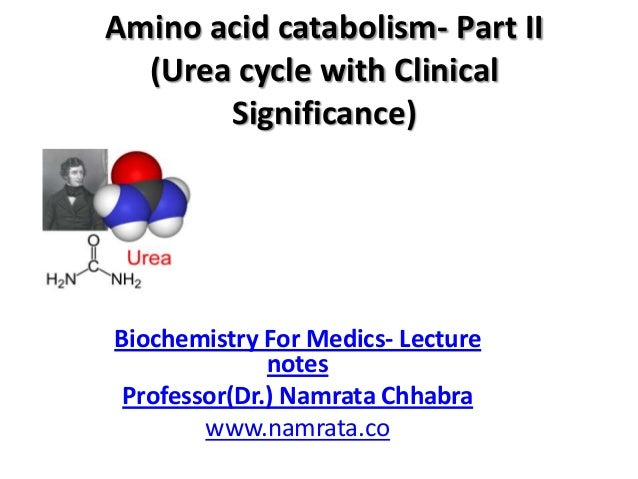 Amino acid catabolism- Part II (Urea cycle with Clinical Significance)  Biochemistry For Medics- Lecture notes Professor(D...