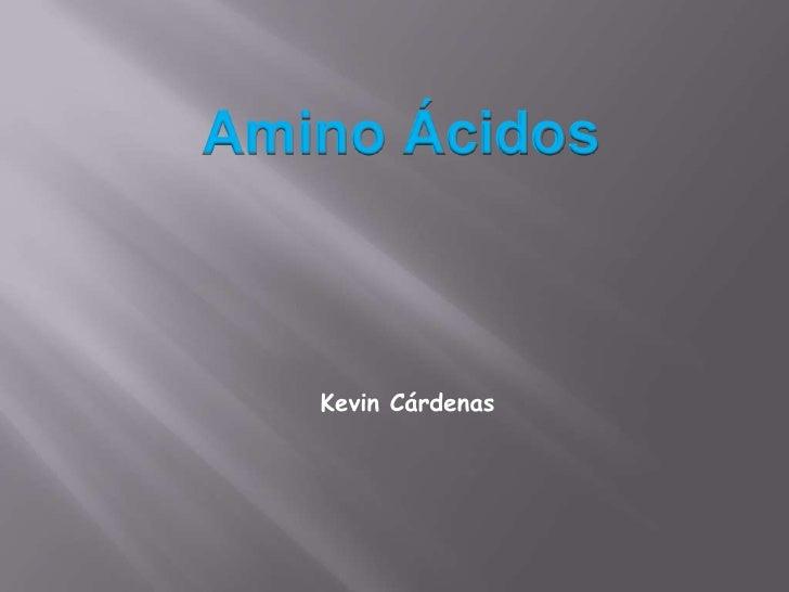Amino Ácidos<br />Kevin Cárdenas<br />