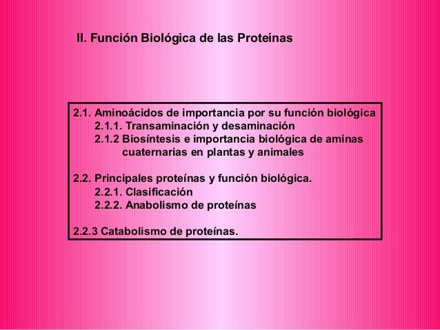 II. Función Biológica de las Proteínas  2.1. Aminoácidos de importancia por su función biológica  2.1.1. Transaminación y ...