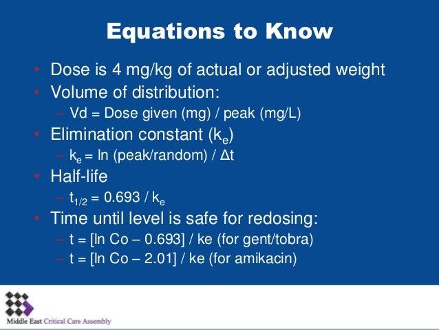 Aminoglycoside Pharmacokinetics/Pharmacodynamics