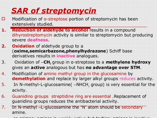 streptomycin structure activity relationship of acetylcholine