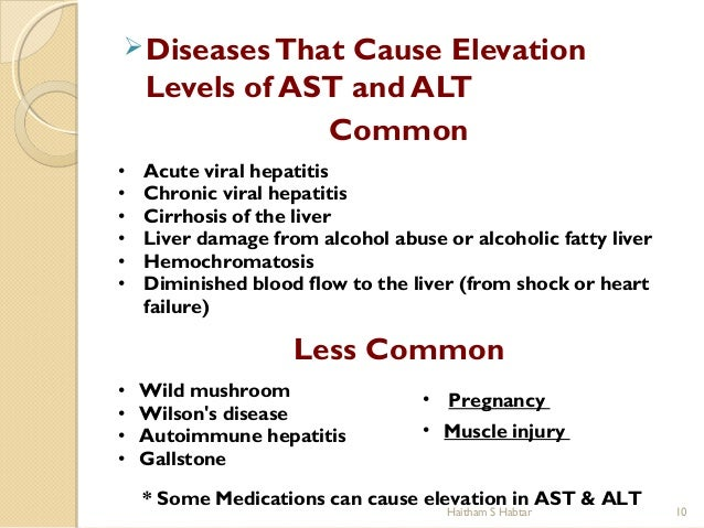 what causes high ast and alt levels