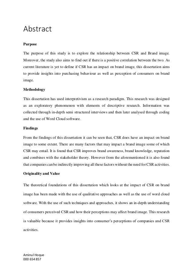 dissertation on csr in india