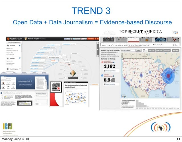 TREND 3Open Data + Data Journalism = Evidence-based Discourse11Monday, June 3, 13