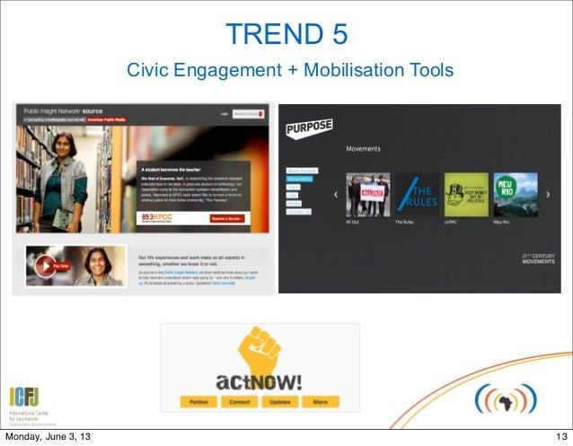 TREND 5Civic Engagement + Mobilisation Tools13Monday, June 3, 13