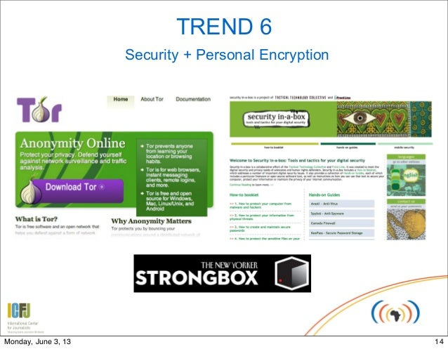 TREND 6Security + Personal Encryption14Monday, June 3, 13