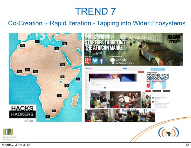 TREND 7Co-Creation + Rapid Iteration - Tapping into Wider Ecosystems15Monday, June 3, 13