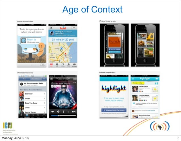 Age of Context5Monday, June 3, 13