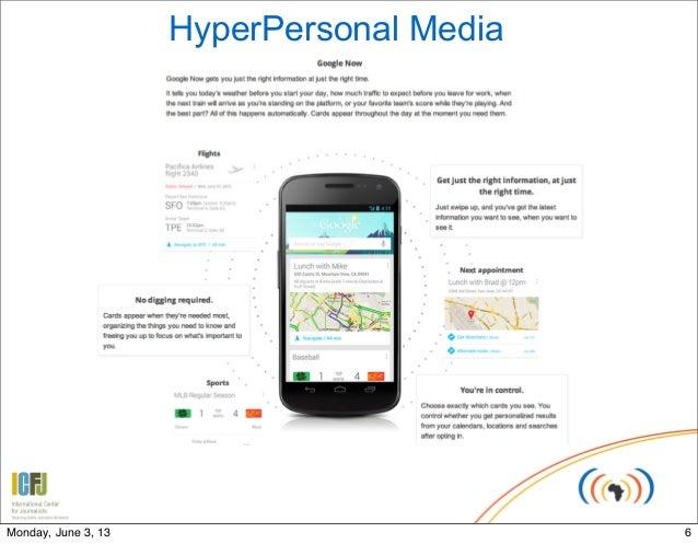 HyperPersonal Media6Monday, June 3, 13
