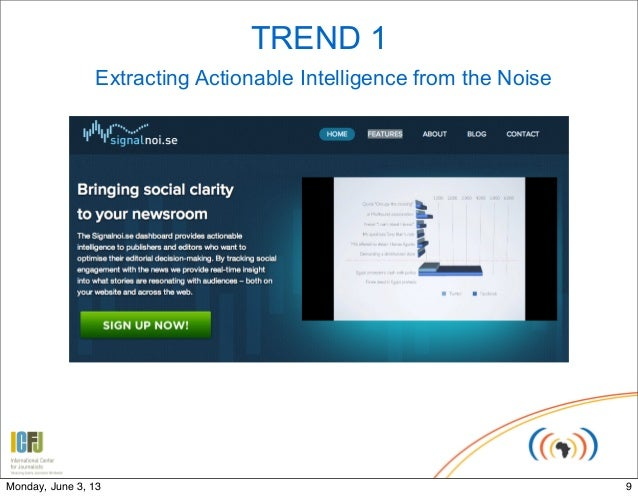 TREND 1Extracting Actionable Intelligence from the Noise9Monday, June 3, 13