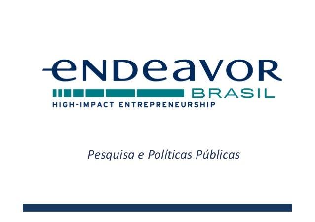 Pesquisa e Políticas Públicas
