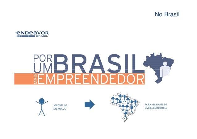 No BrasilATRAVES DE   PARA MILHARES DEEXEMPLOS     EMPREENDEDORES
