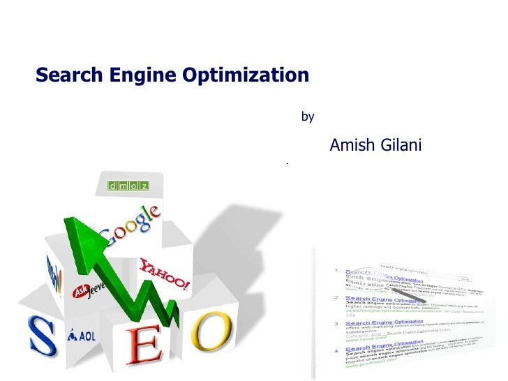 Search Engine Optimization  by Amish Gilani