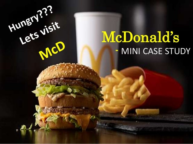 mcdonalds mini case study