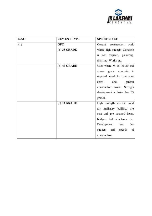 internship report onroyal cement limited Shree cement ltd summer trainning report of cement manufecturing  summer internship project report on cement company  on cement summer internship project report .