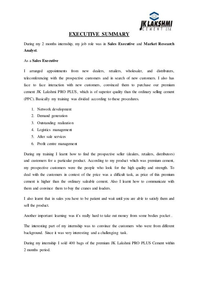 Jk Cement Job : Jk lakshmi cements ltd summer internship report
