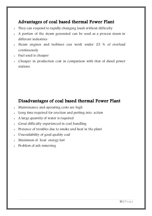 Thermal Power plant visit Report by Amit Hinge