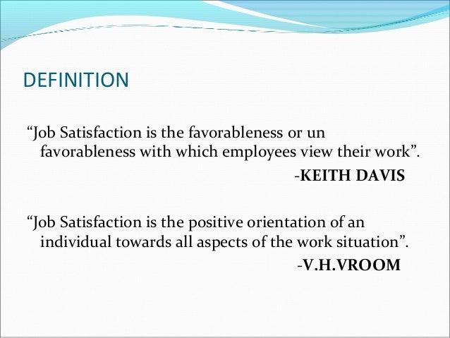 job satisfaction definition