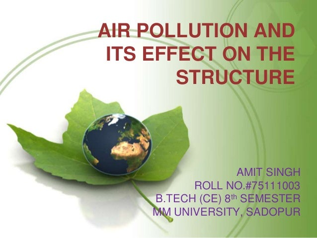air pollution and its affects on