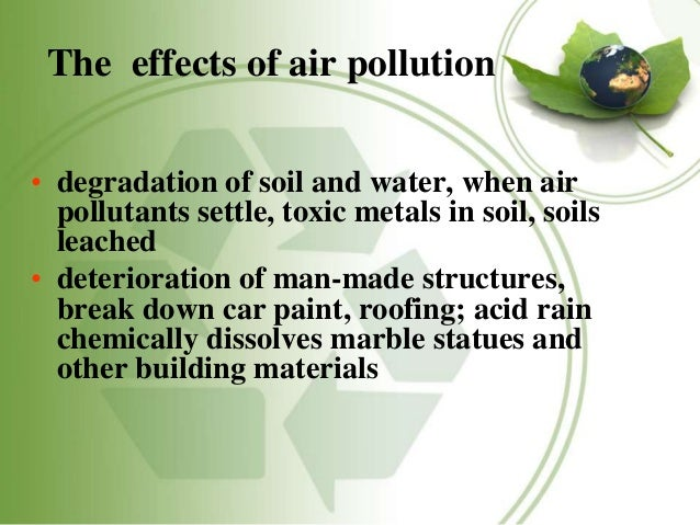 effect of pollution on heritage structure essay