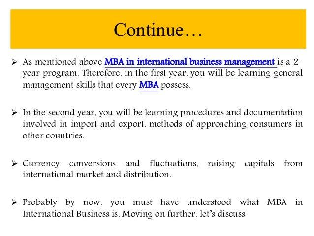 international business administration salary