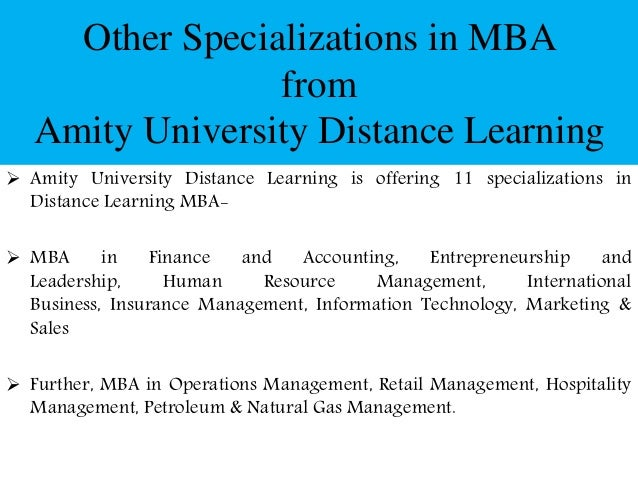 Mba Natural Resource Management