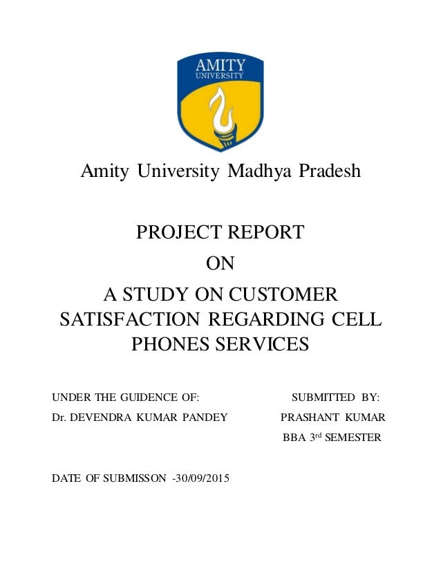 a study on customer satisfaction on