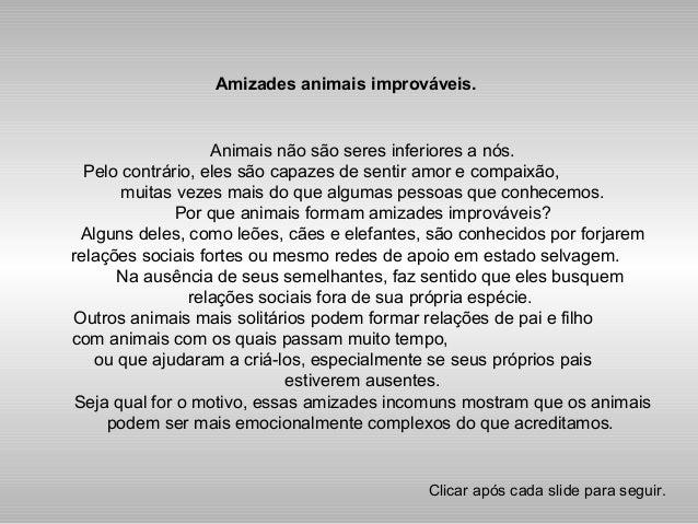 Amizades animais improváveis. Animais não são seres inferiores a nós. Pelo contrário, eles são capazes de sentir amor e co...