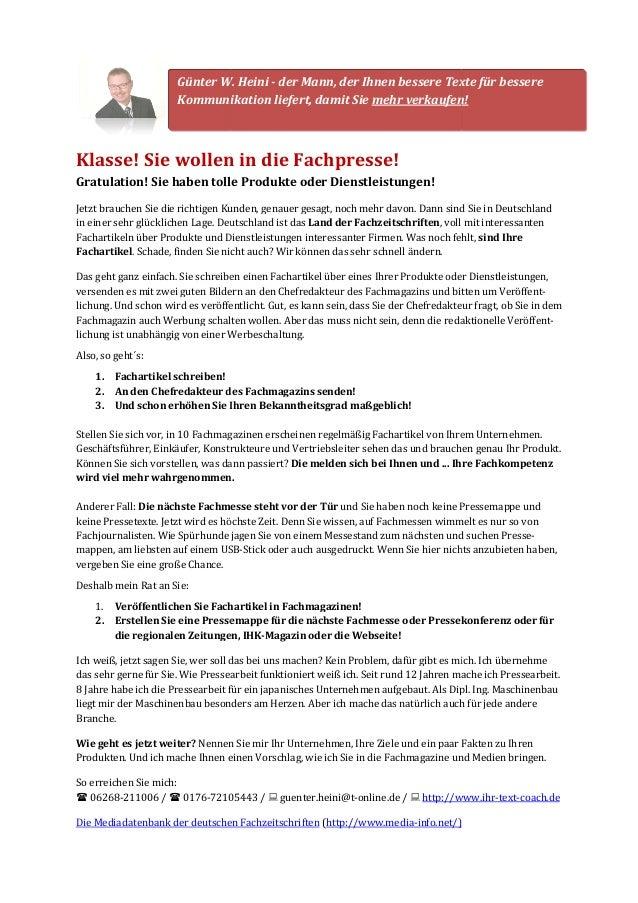 Günter W. Heini  Kommunikation liefert, damit Sie  - der Mann, der Ihnen bessere Texte für bessere  mehr verkaufen!  Klass...