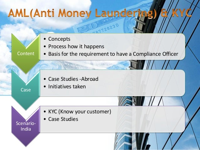 Laundering forex customer know your money