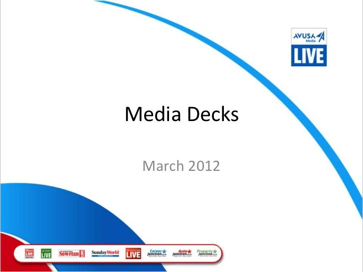 Media Decks March 2012