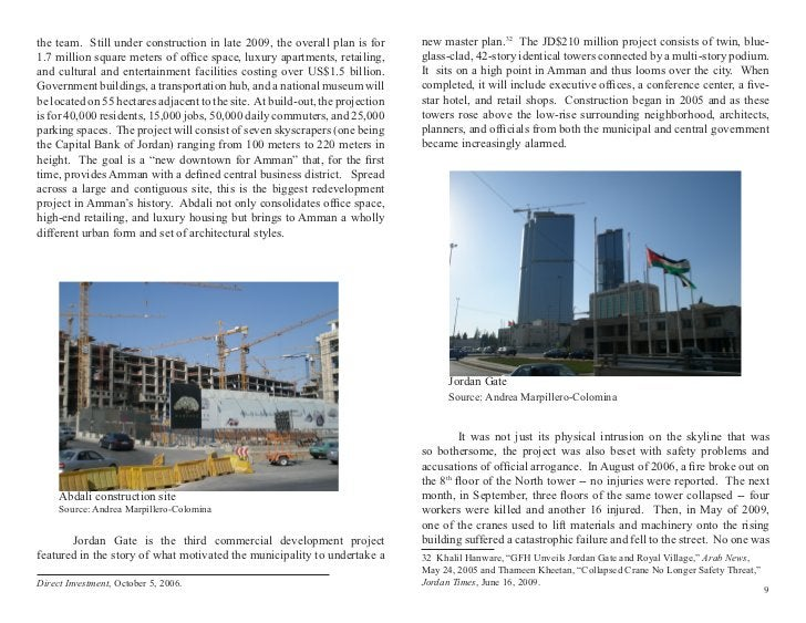 the team. Still under construction in late 2009, the overall plan is for       new master plan.32 The JD$210 million proje...