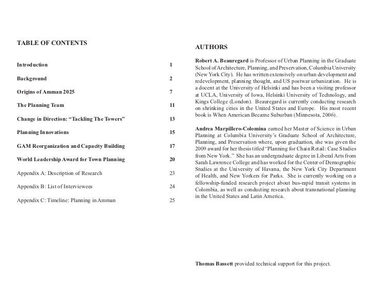 TABLE OF CONTENTS                                                  AUTHORS                                                ...