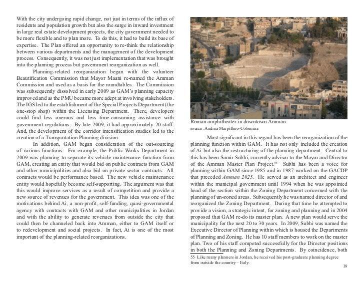 Amman 2025 From Master Plan to Strategic Initiative | Amman Institute