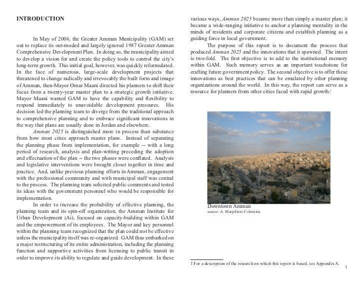 INTRODUCTION                                                                 various ways, Amman 2025 became more than sim...