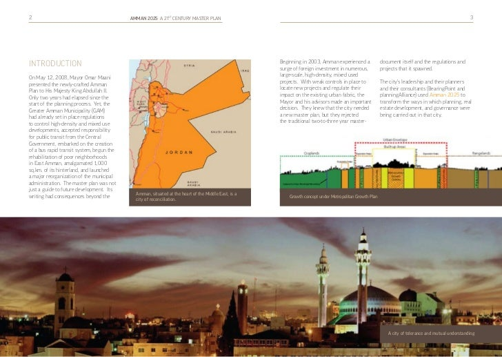Amman 2025 A 21st CENTURY MASTER PLAN Slide 3
