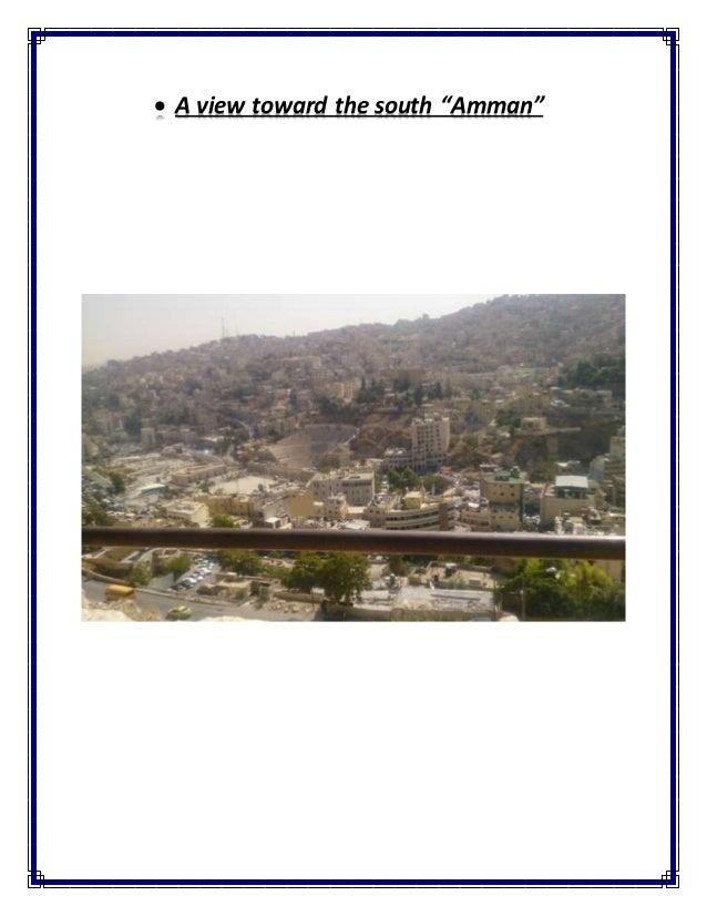 " A view toward the south ""Amman"""