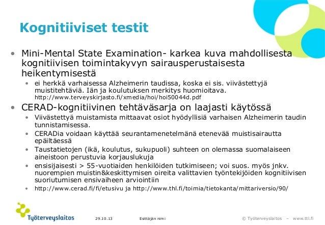 Kognitiivinen Testi