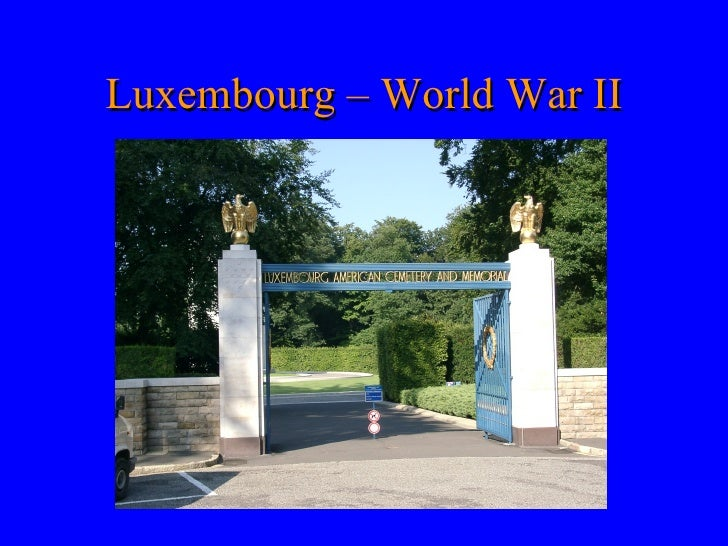 Luxembourg – World War II