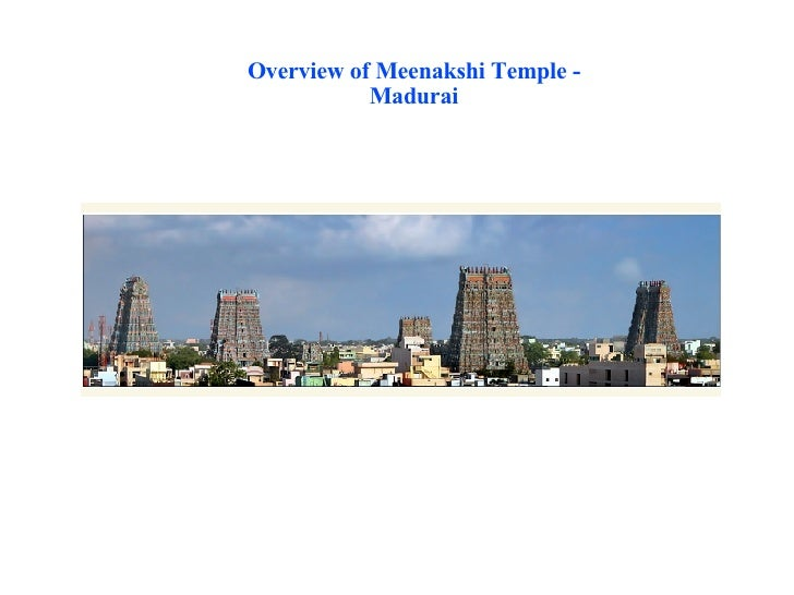Overview of Meenakshi Temple - Madurai
